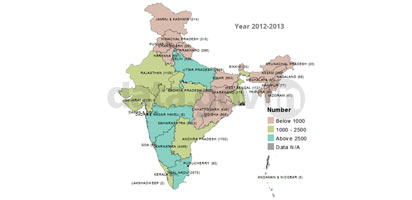 Banner of State/UT-wise number of Higher Education Institutions in India – 2012-2013