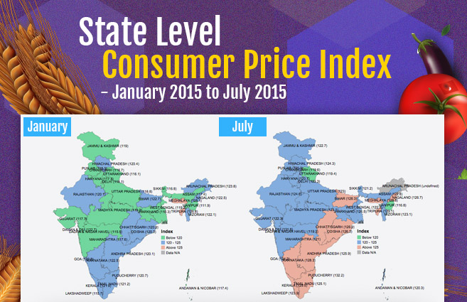 Banner of State Level Consumer Price Index – January 2015 to July 2015