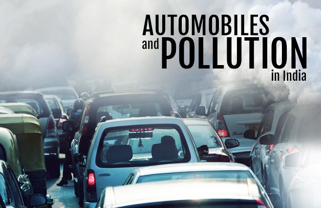Banner of Automobiles and  Pollution in India