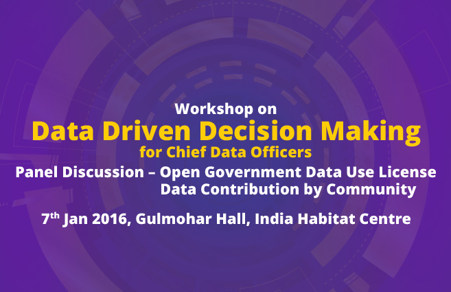 Banner of Workshop on Data Driven Decision Making for Chief Data Officers