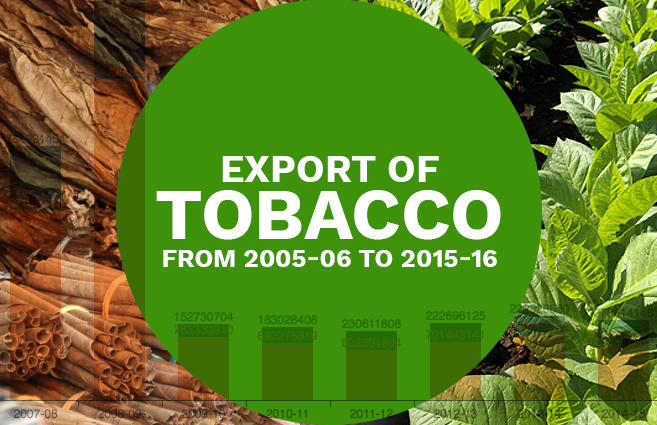 Banner of Export of Tobacco from 2005-06 to 2015-16