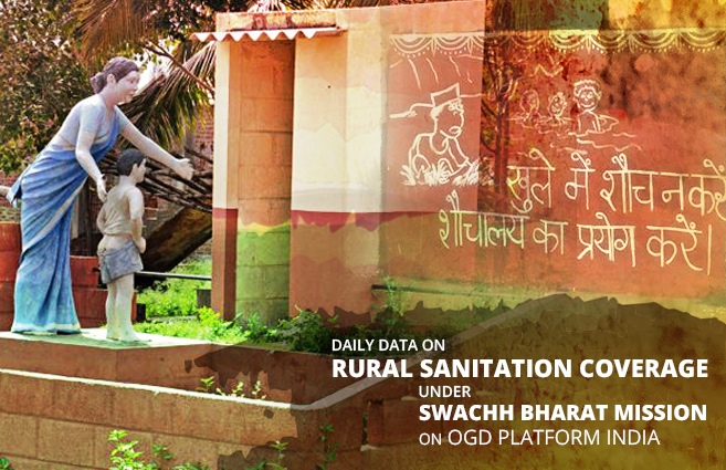 Banner of Daily data on Rural Sanitation Coverage under Swachh Bharat Mission available on OGD Platform India