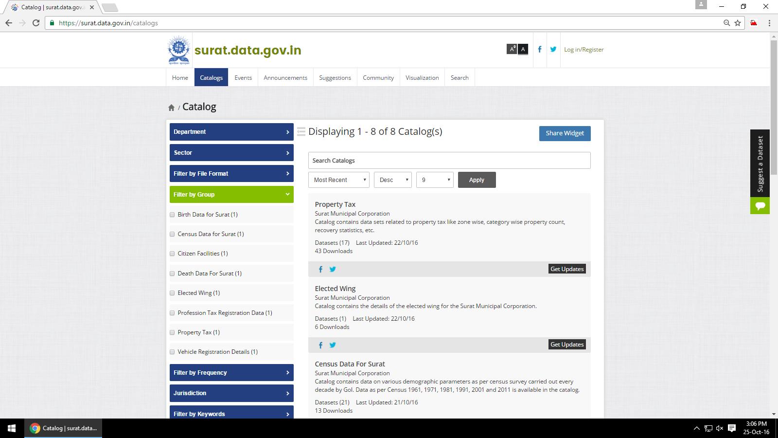 Surat Data Portal Catalogs
