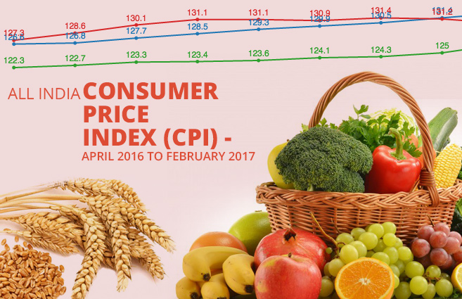 Banner of All India Consumer Price Index (CPI) – April 2016 to February 2017