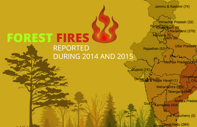 Banner of Forest Fires Reported during 2014 and 2015