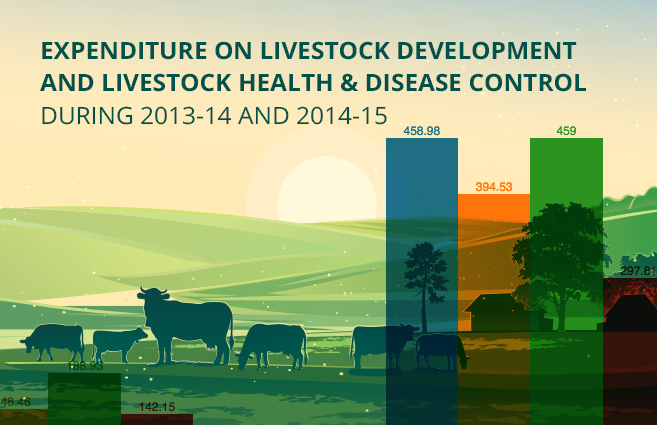Banner of Expenditure on Livestock Development and Livestock Health & Disease Control during 2013-14 and 2014-15