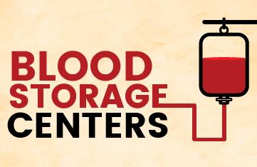 Banner of Blood Storage Centers in Tamil Nadu