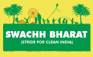 Banner of Swachh Bharat (Stride for Clean India)