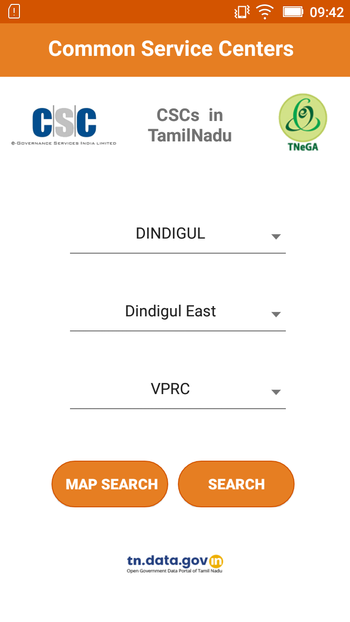 "Mobile App on ""Common Service Centers(CSCs) in Tamil Nadu"