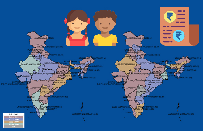 Banner of State/UT-wise Fund Released under Integrated Child Protection Scheme (ICPS) from 2014-15 to 2017-18