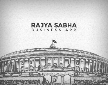 Banner of Rajya Sabha Business Application