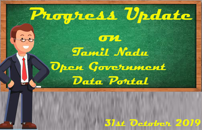 Banner of Progress Update of Tamil Nadu Open Government Data Portal as on 31-10-2019