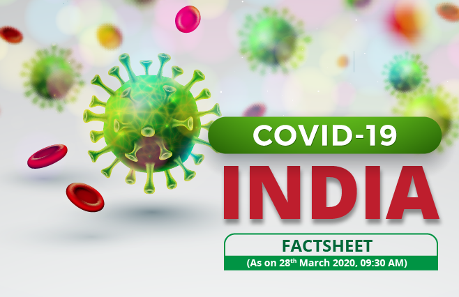 Banner of COVID-19, Coronavirus India Factsheet as of 28th March, 2020 – 09:30 AM