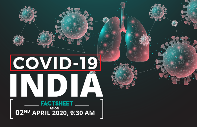 Banner of COVID-19, Coronavirus India Factsheet as on 02nd April, 2020 – 9:30 AM