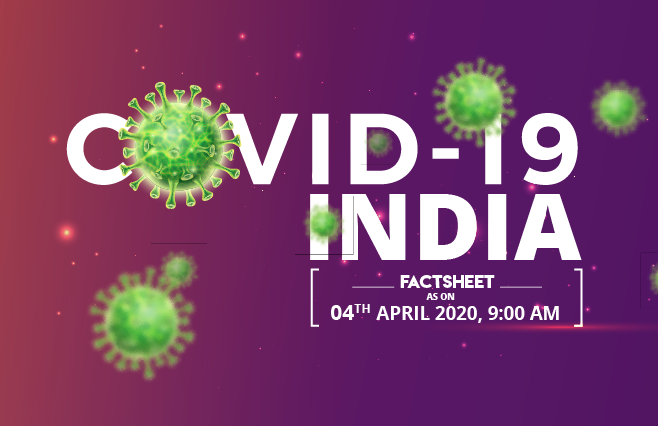 Banner of COVID-19 India Factsheet As on 4th April 2020, 9 AM