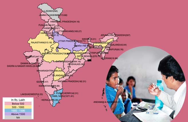 Banner of State/UT-wise Allocation of Budget for National De-worming Day during 2017-18
