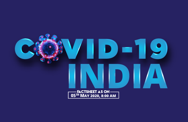 Banner of COVID-19 India Factsheet As on 05th May 2020, 8:00 AM