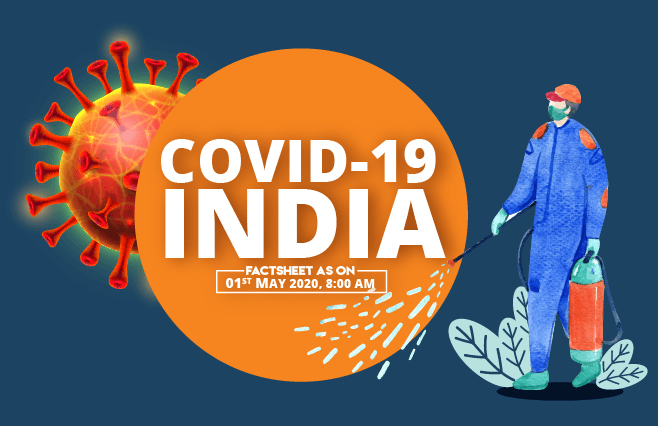 Banner of COVID-19 India Factsheet As on 01st May 2020, 8:00 AM