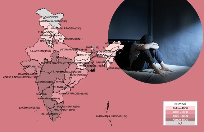 Banner of State/UT-wise Suicides in India during 2018