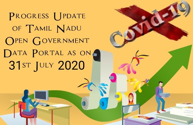 Banner of Progress Update of Tamil Nadu Open Government Data Portal as on 31st July 2020