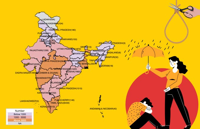 Banner of State/UT-wise Suicides in India due to Family Problems during 2018