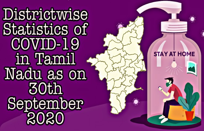 Banner of District-wise Statistics of COVID 19 in Tamil Nadu as on 30th September 2020