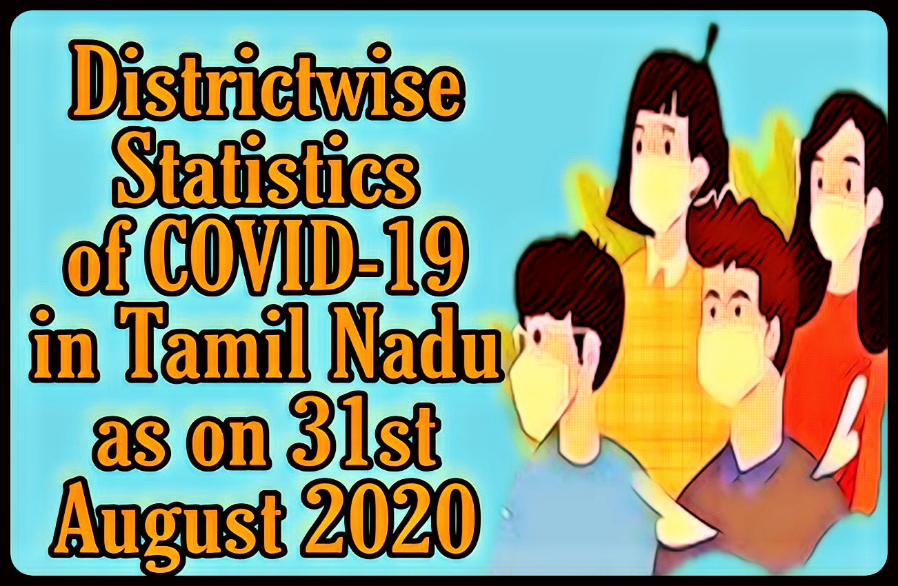 Banner of District-Wise Statistics of COVID 19 in Tamil Nadu as on 31st August 2020