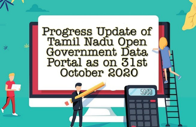 Banner of Progress Update of Tamil Nadu Open Government Data Portal as on 31st October 2020