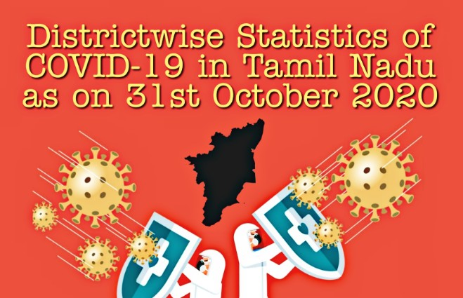 Banner of District-wise Statistics of COVID 19 in Tamil Nadu as on 31st October 2020