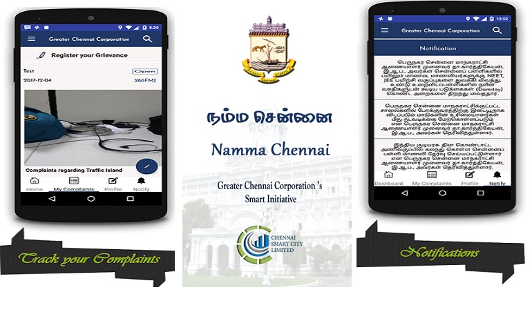Banner of Namma Chennai: Redressal Revolution
