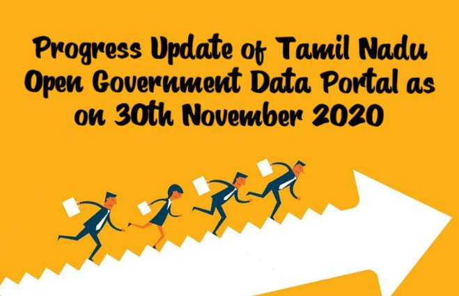 Banner of Progress Update of Tamil Nadu Open Government Data Portal as on 30th November 2020
