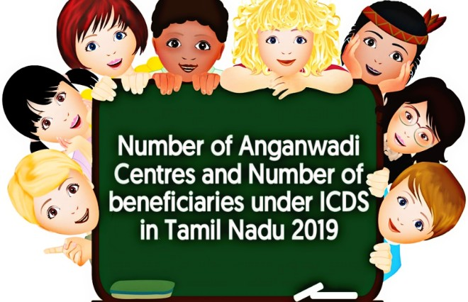 Banner of Number of Anganwadi Centres and Number of Beneficiaries under ICDS in Tamil Nadu as per SHB 2019