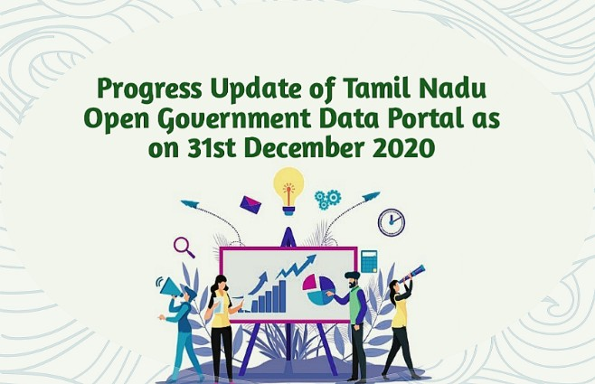 Banner of Progress Update of Tamil Nadu Open Government Data Portal as on 31st December 2020