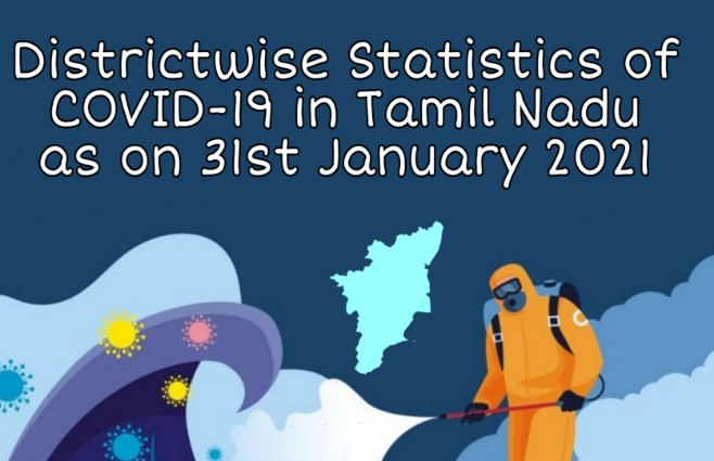 Banner of District wise Statistics of COVID 19 in Tamil Nadu as on 31st January 2021