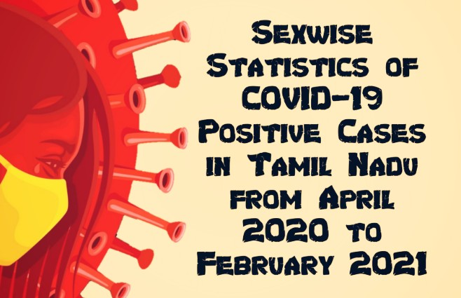 Banner of Sexwise COVID-19 Positive Cases in Tamil Nadu from April 2020 to February 2021