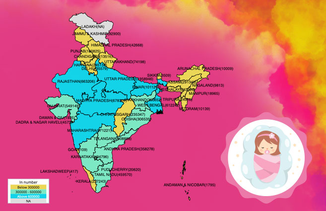 Banner of State/UT-wise Female Live Births in India during 2019-20