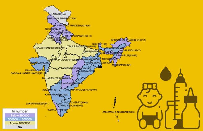 Banner of State/UT-wise Child Immunisation – Rotavirus 1 in India during 2019-20