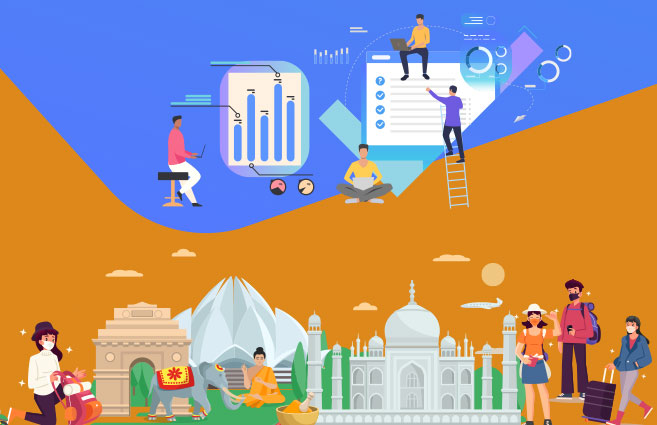 Banner of Analyzing Data on Foreign Tourists' arrival in India till 2019