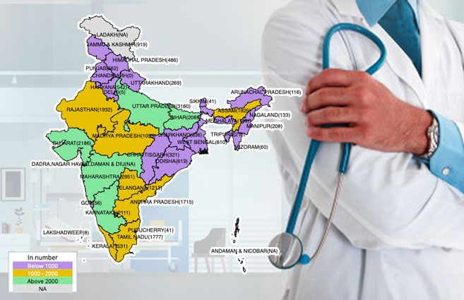 Banner of State/UT-wise Doctors at PHCs in Rural Areas As on 31st Mar 2019