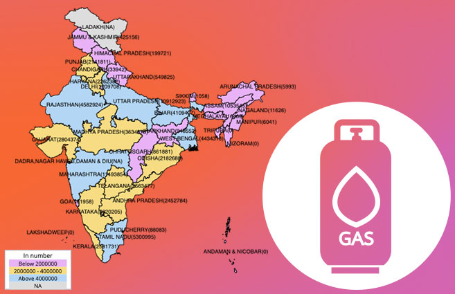 Banner of State/UT-wise Active LPG Domestic Consumers of BPCL As on 31st Mar 2020