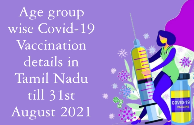 Banner of Age group wise COVID 19 vaccination details in Tamil Nadu till 31st August 2021