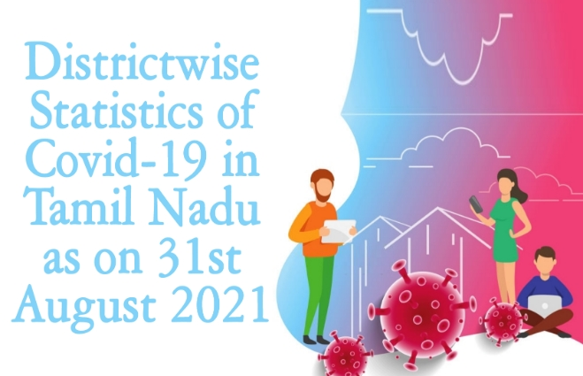 Banner of District wise Statistics of COVID 19 in Tamil Nadu as on 31st August 2021