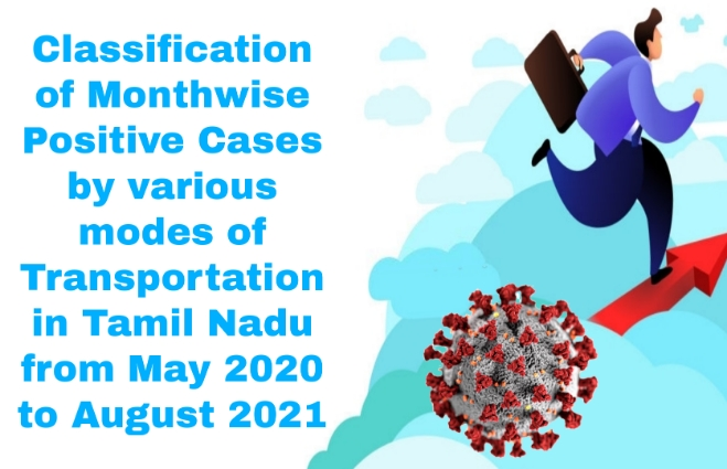 Banner of Classification of Month wise Positive Cases by various modes of Transportation in Tamil Nadu from May 2020 to August 2021