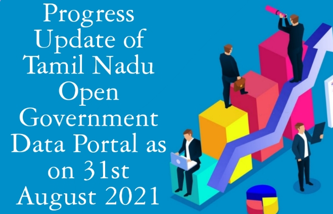 Banner of Progress Update of Tamil Nadu Open Government Data Portal as on 31st August 2021